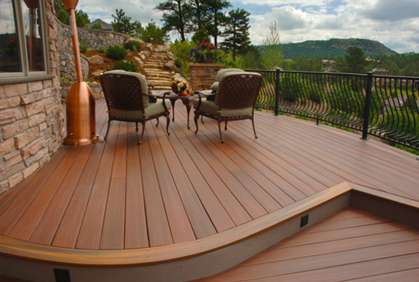 Pictures of compostite deck designs ideas and plans for Building a composite deck