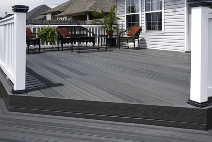 Most popular composite deck designs and plans photo gallery pictures with DIY design ideas and DIY plans