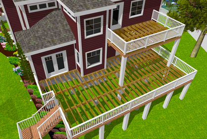 Free deck design software tools downloads reviews for Design a porch online