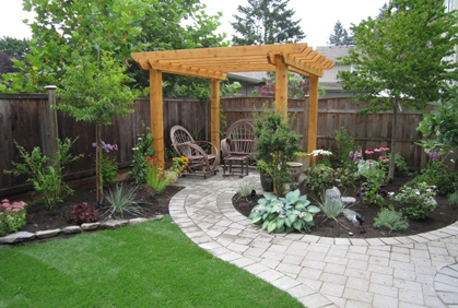 Simple backyard ideas pictures and landscaping plans for Back garden simple designs