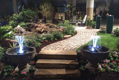 Landscape Design Ideas Pictures inspiration for a small contemporary side yard formal garden with a garden path and concrete pavers Pictures Of Landscape Designs Designs Ideas And Photos