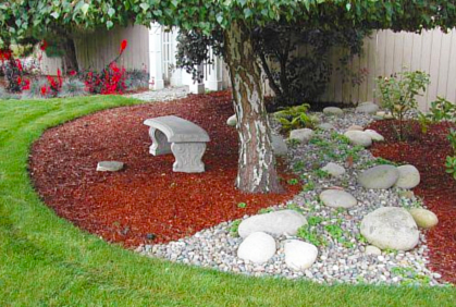 Landscaping with rocks pictures 2016 designs ideas for Different color rocks for landscaping
