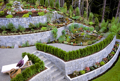 pictures of landscape retaining wall designs ideas and photos