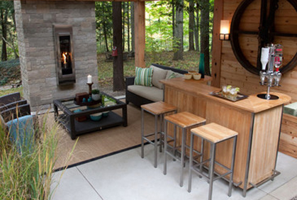 diy patio bar ideas putting a diy outdoor bar outdoortheme com - Outdoor Patio Bar Ideas