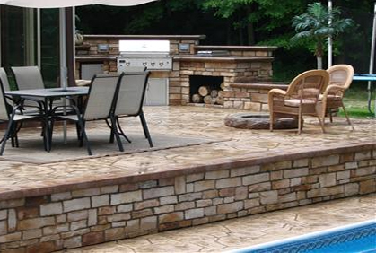 best stamped and decorative concrete patio designs ideas pictures and diy plans - Concrete Patio Design Ideas