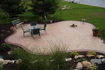top 2016 stamped and decorative concrete patio design ideas photos and diy makeovers - Concrete Patio Design Ideas