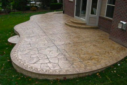 Most popular stamped and decorative concrete patio pictures with DIY ...