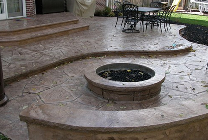 diy stamped and decorative concrete patio designs ideas and online 2016 photo gallery - Concrete Patio Design Ideas