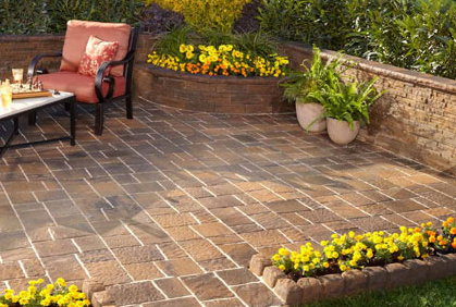 pictures of best patio pavers how to install lay build designs ideas and photos - Paver Patio Design Ideas