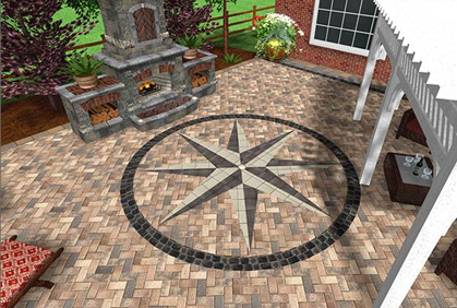 patio designs with fire pit snap shots - Patio Design Software