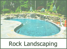 Backyard Landscaping with Rock