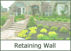 Front Yard Retaining Wall for Landscaping