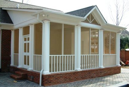Screen Porch Ideas Ranch Home Covered Deck Addition Patio Covers